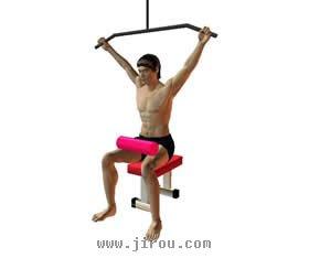 背部肌肉锻炼固)�_颈后下拉_肌肉网