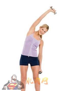 腰部哑铃锻炼方法图解