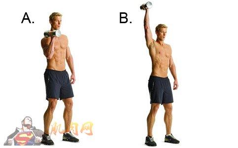 练习: a:手握单杠悬吊,手臂与肩同宽,小腿交叉.