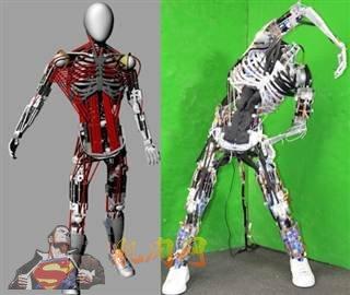 """日本东京大学研究人员研发出名为""""Kenshiro""""的机器人,拥有160块肌肉。"""