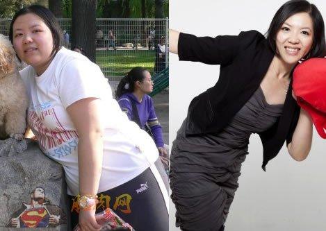 贾玮减肥前后对比