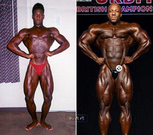 健美传奇巨星 健美健身后对比