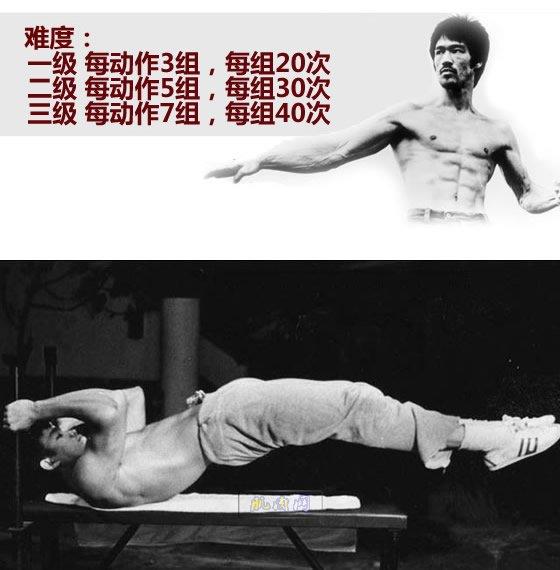 李小龙腹肌锻炼计划