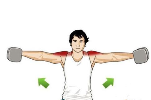三角肌前束训练动作