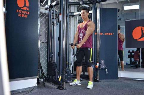 三角肌后束徒手鍛煉方法 增肌健身